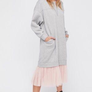 Free People | Too Much Tulle Sweatshirt Dress